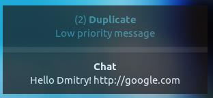 Notification OSD Alternative