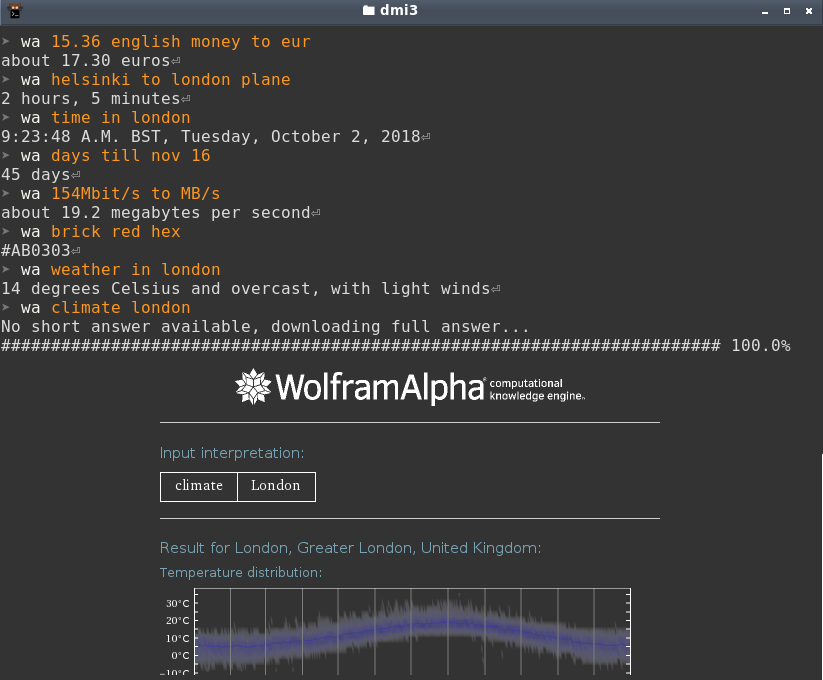 Wolfram Alpha in your terminal